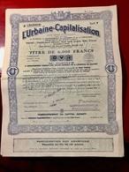 L' URBAINE  -  CAPITALISATION  --------Titre  De  6.000 Frs - Banque & Assurance