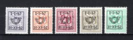 PRE620/624 MNH** 1952 - Cijfer Op Heraldieke Leeuw Type D - REEKS 42 - Typos 1951-80 (Chiffre Sur Lion)