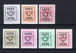 PRE652/658 MNH** 1955 - Cijfer Op Heraldieke Leeuw Type E - REEKS 48 - Precancels