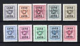 PRE676/685 MNH** 1958 - Cijfer Op Heraldieke Leeuw Type E - REEKS 51 - Precancels