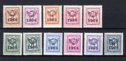 PRE769/779 MNH** 1966 - Cijfer Op Heraldieke Leeuw Type F - REEKS 59 - Precancels