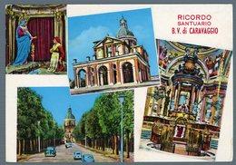 °°° Cartolina - Santuario B. V. Di Caravaggio Vedute Viaggiata °°° - Bergamo