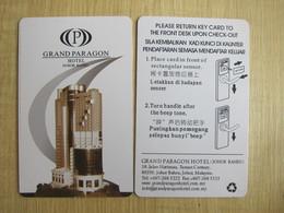 Grand Paragon Hotel Johor Bahru,Malaysia - Cartes D'hotel