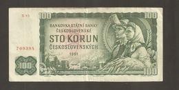 CECOSLOVACCHIA 100 KORUN 1961 (W47) - Czechoslovakia