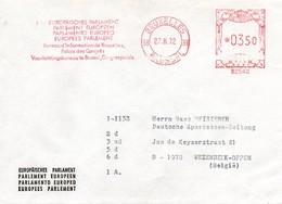 UE131 Lettre Du Parlement Européen De Bruxelles Du 27.3.72 Avec EMA B2542  TTB - Europese Gedachte