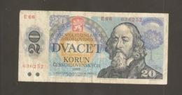 CECOSLOVACCHIA 20 KORUN 198 (W8) - Tschechoslowakei