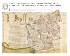 ITALIA 2013 550° Anniversario Confini Con La Repubblica Di San Marino. Foglietto, Sheetlet MINT - Blocchi & Foglietti