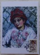 Carte Maximum Card  Portrait Par Claude Monet    France 2016 Cachet  Rouen - Otros