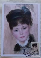 Carte Maximum Card  Portrait Par Renoir   France 2016 Cachet Lille - Otros