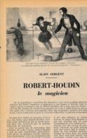 1954 : Document, ROBERT HOUDIN, LE MAGICIEN Blois, St Gervais-la-Forêt, Suspension Aérienne De Son Fils, Portrait, Magie - Collections
