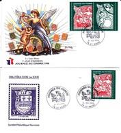 France De 1998  Timbres Sur Lettres YT 3135-36 Oblitérés 1er Jour - FDC