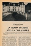 1954 : Document, CHOUANNERIE, Roman D'amour, Saint-Mars-la-Pile, Château De Rouillon, Château De Ranay, Montoire... - Collections