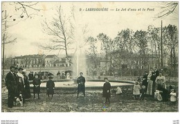 81.LABRUGUIERE.n°28915.LE JET D'EAU ET LE PONT - Labruguière
