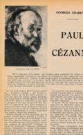 """1954 : Document, PAUL CÉZANNE, Peintre,  """"Pommes Et Oranges"""", Maison à Aix-en-Provence, La Montagne Sainte-Victoire... - Collections"""