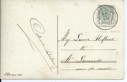Fantasiekaart  Met OCB 83- Afstempeling BEVEREN(WAAS) - COBA 4 - 1893-1907 Wappen