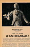 1954 : Document, LE GAZ D'ÉCLAIRAGE, Philippe Lebon, Péchiné, Hôtel De Seignelay, Ouvrage, Allumeur De Réberbères, Paris - Collections