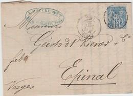 90 Sage IIa, De PARIS à Epinal Du 19 JAN 80 Càd D10 Et D9 - 1876-1898 Sage (Type II)