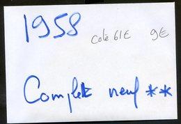 300520//// TIMBRE FRANCE...ANNEE COMPLETE LUXE**.........1958................A 15% DE LA COTE - Francia