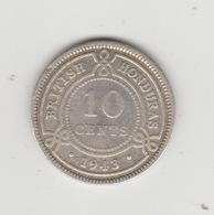 HONDURAS BRITANNIQUE 10 CENTS 1943 GEORGE VI ARGENT - Belize