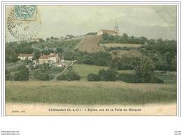 78.CHATEAUFORT.L'EGLISE VUE DE LA FOLIE DU MARQUIS - Autres Communes