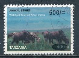 °°° TANZANIA - ANIMALS GNU AND ZEBRAS - 2013 °°° - Tanzania (1964-...)