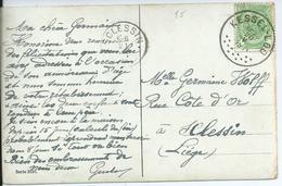 Fantasiekaart  Met OCB 83- Afstempeling KESSEL-LOO- COBA 30 - 1893-1907 Wappen