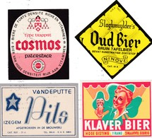 Lotje Bieretiketten - Uit Ninove Oud Bier - Izegem Vandeputte  - Patersbier COSMOS - Klaver Bier - Beer