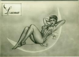 1950s PIN-UP - LUNA / MOON - EDIZ. BROMOSTAMPA (1413) - Humour