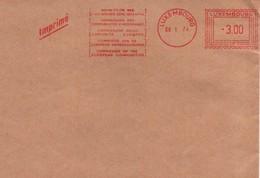 """UE142  Fragment De Lettre """"imprimé"""" De La Commission Des Communautés Européennes Avec EMA F339 Du 8.1.74   TTB - Europese Gedachte"""