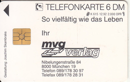 GERMANY - MVG Verlag(K 615), Tirage 2000, 12/92, Used - Deutschland