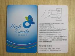 High Castle Resort, Korea - Hotelkarten