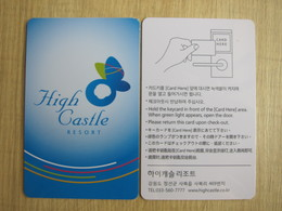 High Castle Resort, Korea - Cartes D'hotel