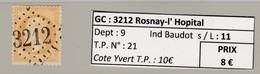 GC 3218 Rosnay-l' Hopital ( Dept 9 ) S / N° 21 - Marcophilie (Timbres Détachés)