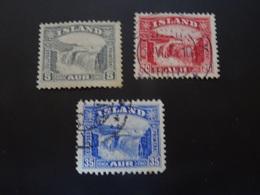 ISLANDE  1931-32  Chutes De Gullfoss - Gebruikt