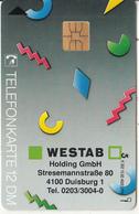 GERMANY - Westab Holding GmbH(K 302), Tirage 4000, 10/92, Used - Deutschland