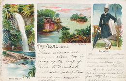 Trinidad Pionneer Card Litho Karl Theyer Mainz Five Islands , Blue Basin , Scrusher - Trinidad