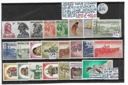 PAPUA NUOVA GUINEA **1958/1964 - ORDINARIA, 23 VALORI COMPLETI - Papua New Guinea