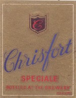 Bieretiket - Chrisfort Speciale - Beer