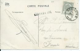 Fantasiekaart  Met OCB 81- Afstempeling PEPINSTER - Lijnstempel SART LEZ SPA - 1893-1907 Wappen