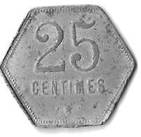 25 CENTIMES REUNION 1920 - Réunion