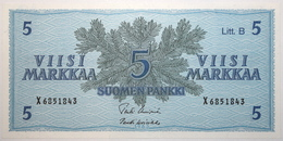 Finlande - 5 Markkaa - 1963 - PICK 106Aa.19 - NEUF - Finlandia