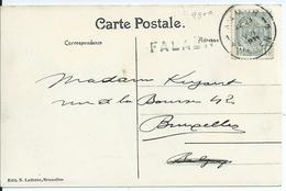 Zichtkaart Falaën Met OCB 81- Afstempeling NAMUR 1 - Lijnstempel FALAËN - 1893-1907 Armoiries