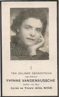 DP. OORLOG 40-45  YVONNE VANDENBUSSCHE ° MARCKE 1920 - + LUCHTAANVAL TE AUGSBURG (DUITSLAND) 1944 - Godsdienst & Esoterisme