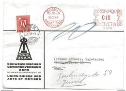 104 - 28 - Enveloppe Commerciale Envoyée De Bern à Zürich - Timbre Taxe 1944 - Portomarken