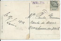 Fantasiekaart  Met OCB 81- Lijnstempel WALZIN - 1893-1907 Wappen