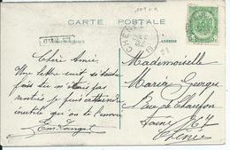 Zichtkaart  Pepinster Met OCB 83 - Lijnstempel LA REID - 1893-1907 Wappen