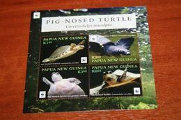WWF 2016 Turtles Papua New Guinea  Rare Mini-block - Tortues