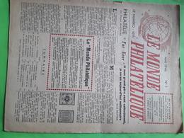 Magazine LE MONDE PHILATÉLIQUE, Mai 1946,no 1,timbres D' Algerie,emissions Alliees En Allemagne, CERES 20 C Noir - Français (àpd. 1941)