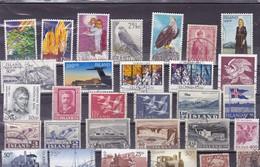 ISLANDE :  Lot De 30 Timbres Oblitérés : Y&T - IJsland