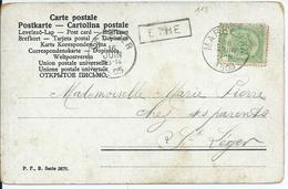 Fantasiekaart  Met OCB 83 - Lijnstempel ETHE - 1893-1907 Wappen